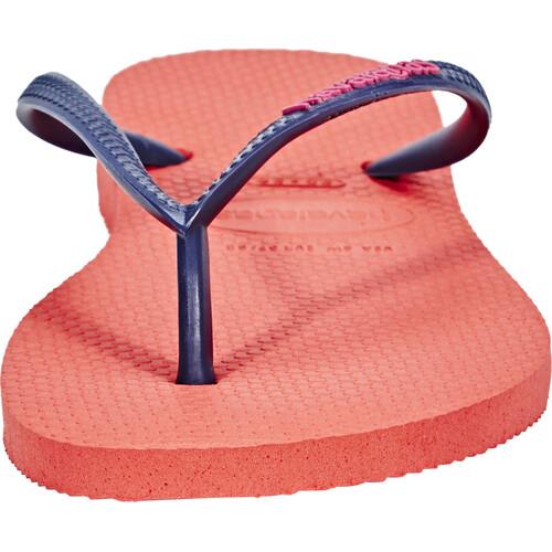 havaianas Slim Logo - Sandales Femme - orange Prix Bon Marché Authentique 100% Authentique KxEljee7E